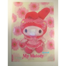Sanrio Japan my melody A4 clean file/folder-doll