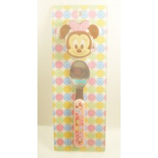 Japan Disney minne mouse spoon w/case