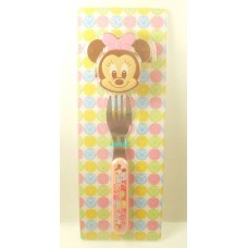 Japan Disney minne mouse fork w/case
